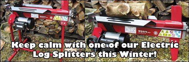 Keep calm with Titan Pro Log Splitters this Christmas!