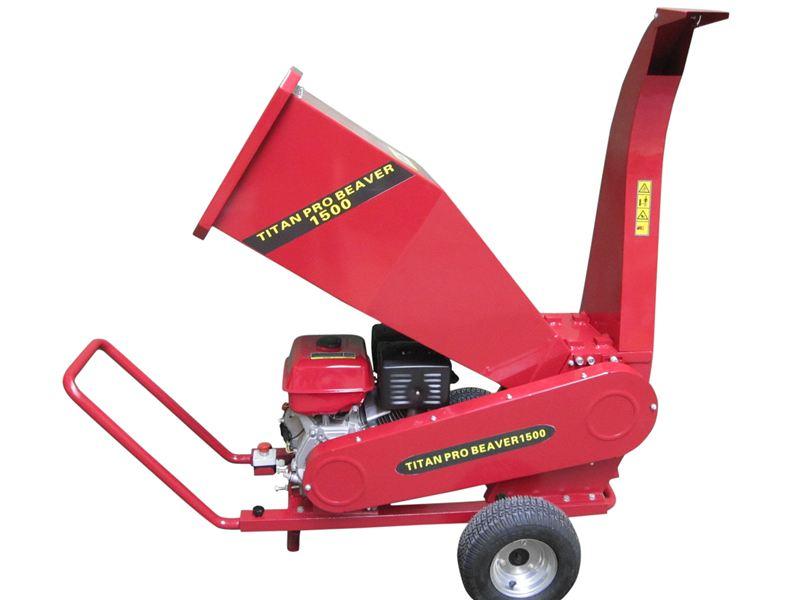 Heavy Duty Petrol Chipper Shredder Mulcher 15hp
