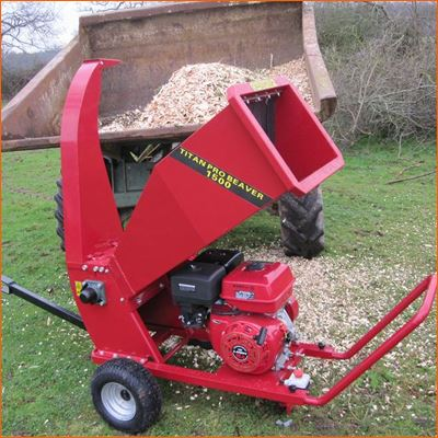Order a The new Titan-Pro Beaver 15HP Petrol Chipper Shredder has award winning design features. It is the BIGGEST Beaver Chipper in our range and has a super powerful OHV engine. The Titan Beaver has a large hopper capable of chipping up to 100mm - 4