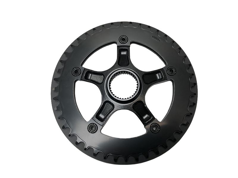 Order a A replacement 44 tooth crank sprocket for the Bafang G510 electric bike motor and G620 bike frames.