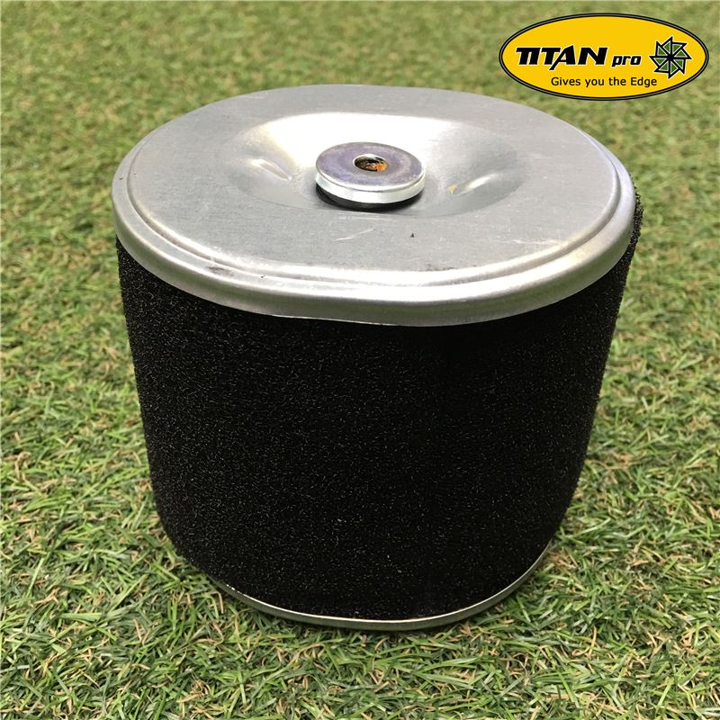 Order a A quality replacement air filter, designed for use with the Titan Pro 13/14/15HP Chipper, the TP1200 and the Heavy Duty Beaver, fitted with a Lifan engine.