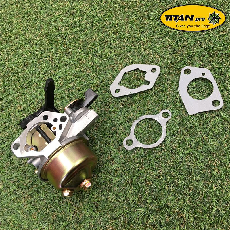 Order a A genuine replacement carburetor and gaskets to fit the 13HP chipper shredder range from Titan Pro.