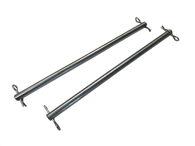 Order a A genuine replacement pair if scroll pins for the grill on Titan chippers. This includes the 7HP and 15HP models.
