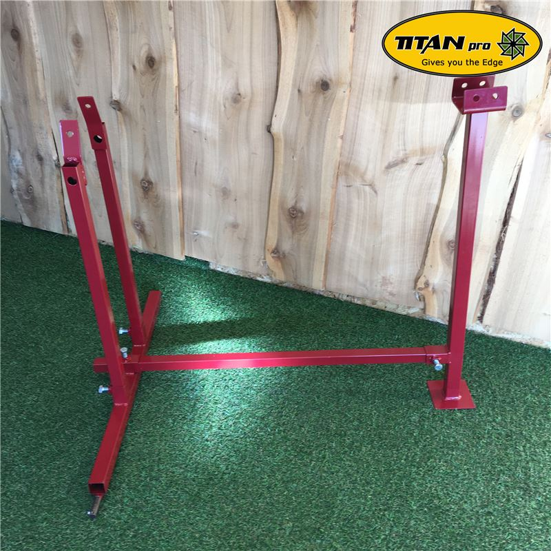 Order a For use with the Titan Pro 6 and 7 Ton Splitters (sold separately) this easy-to-use stand brings your log splitter to waist height and makes the task of log splitting an easier operation without the need to be bending over or crouching down to floor level.