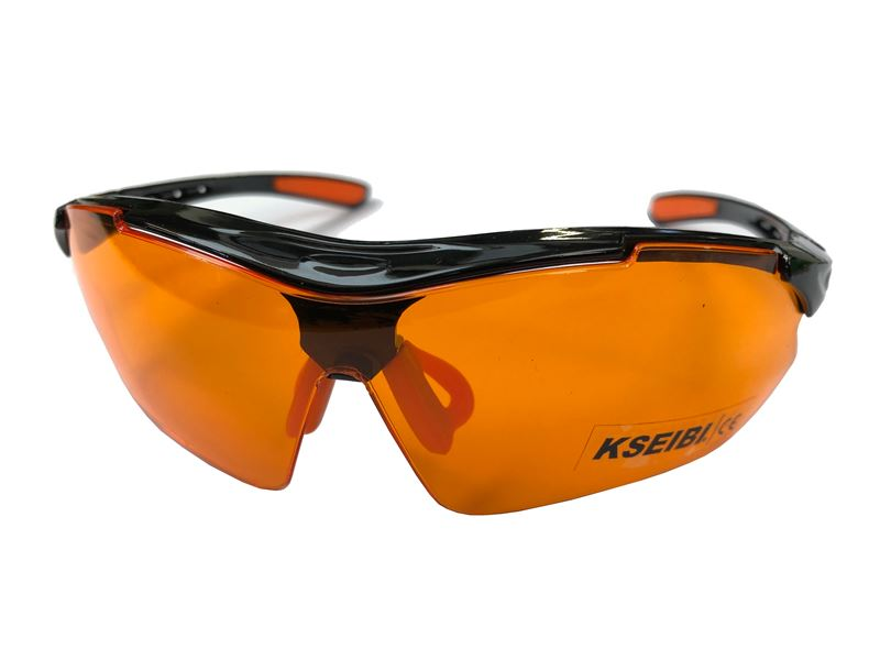 Order a Keep your eyes safe with our safety glasses - available in both clear lens and orange-tint varieties!