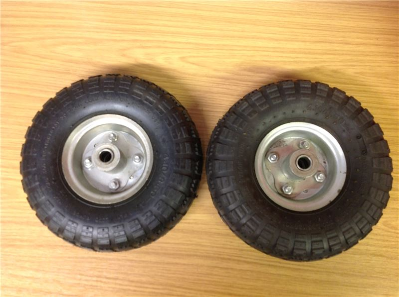 Order a Genuine replacement set of wheels and tyres for the TP500 rotavator.