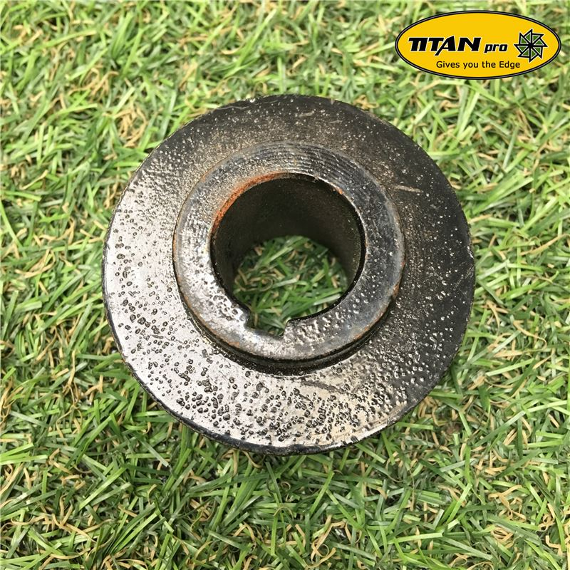 Order a A genuine replacement belt tensioner pulley for the TP500 rotavator.