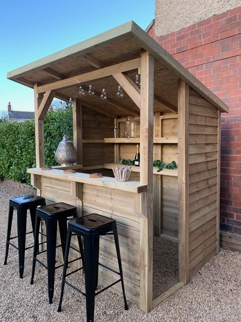 Order a Ready for the summer it is our wooden garden bar!