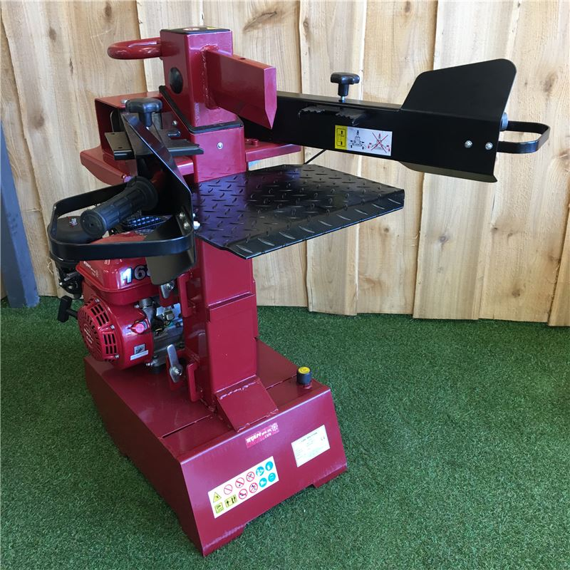 Order a Our new product in our extensive range. This 8 Ton Log Splitter is ideal for the residential user who needs 8 tons of splitting power. It is petrol driven with an economical and reliable 6.5HP Titan engine. One of the greatest features of both the 10 Ton Log Splitter and the 8 Ton Vertical Log Splitter is the ram height adjustment, which allows you to hold the cutting ram in a set position to suit your log length.