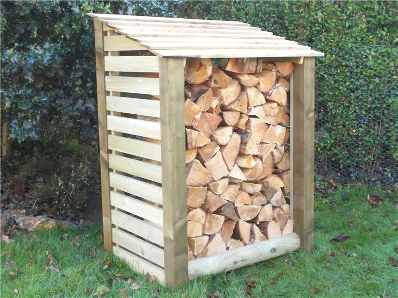 Order a Our slatted log stores offer a large amount of storage, with a smart design - the slatted side panels allowing optimal air-flow, meaning when it comes time to burn it, you will get maximum heat output from your logs! Each log store is crafted from fully pressure treated timber, meaning you will get the best of quality, with incredible durability.