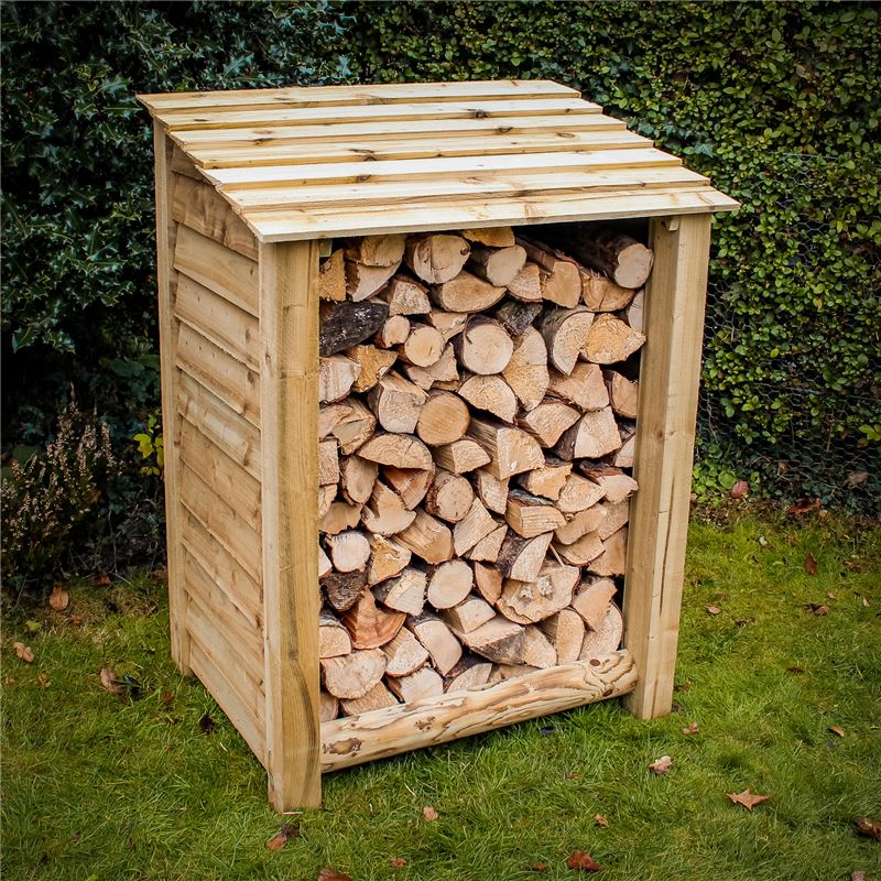 Order a Our standard log stores offer a large amount of storage, with a smart design, incorporating a raised base and a lower back for optimal air flow! Each log store is crafted from fully pressure treated timber, meaning you will get the best of quality, with incredible durability.