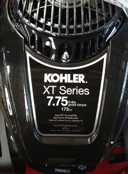 Order a The KOHLER Courage XT775 is a world-class engine, from a trusted brand. Boasting 7.75 gross torque, it powers our top of the line 22