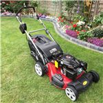 Order a The new Titan Pro petrol self-propelled lawn mower with a 21/53cm Deck, 6.5HP OHV Titan Loncin Engine, large rear wheel drive.