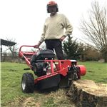 Order a The latest in the Titan Pro range of machinery, our powerful 15HP petrol stump grinder is now available. Perfect for finishing off your tree removal jobs, this grinder works to help you remove the upper section of the tree root ball, taking it below ground level in order to be able to level out your ground.