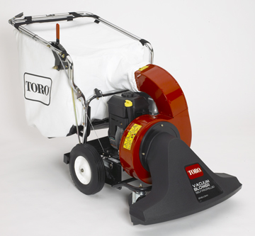 Order a The Toro Walk Behind Lawn Vacuum/Blower can vacuum a lot of leaves in a short time. The collection bag holds 250 Litres of leaves and debris and the 76cm nozzle removes in seconds to convert into a powerful blower.