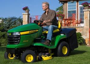 Order a The X300R rear collect premium lawn tractor offers customers a unique machine which features fan assisted collection