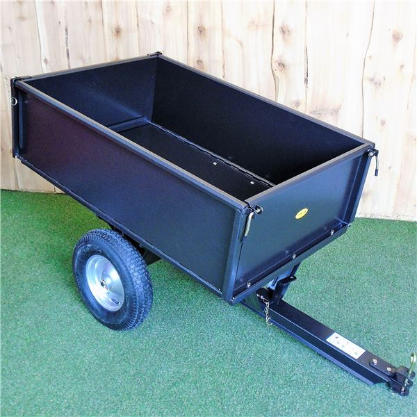 Order a Garden Trailer , easy assemble ,folding sides and opening rear, Dump truck action also included