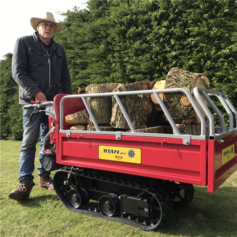 Order a Whatever you need to move, the Mule is the hardworking tool for you! With a huge maximum loading weight of 450KG, it is well suited for moving logs ready to burn, garden paving stones or just about anything else you need to transport - including our Titan Pro Beaver chipper!
