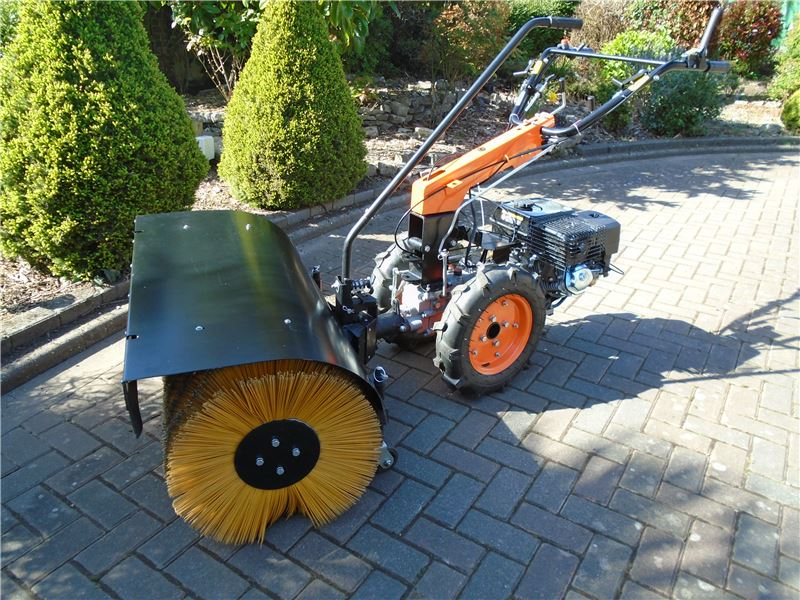Order a Our brand new sweeper attachment, designed for use with the Titan Pro Warrior two wheeled tractor