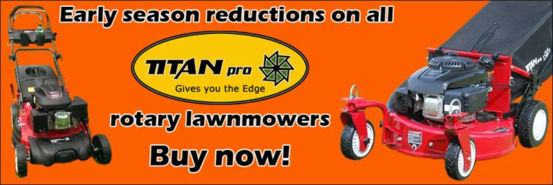 Great deals on our entire range of petrol self-propelled mowers!