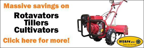 Garden Tillers and Petrol Rotavators from Titan Pro - Grab a Bargain