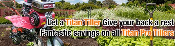 Allotment tillers at great prices from Titan Pro