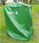 Order  The Titan Pro green, fully waterproof cover for Garden Machinery, keep your machine nice and dry and ready for the next job. 985*550*1130mm, which opening orientation is the size of 985*550mm