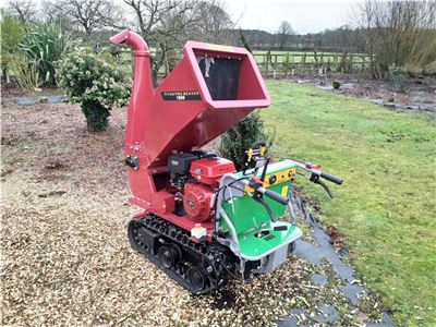 Tracked Petrol Wood Chipper - Beaver 15HP Branch Chipper