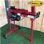 Order  The Titan Pro 7 Ton Electric Log Splitter is an electrically-powered hydraulic unit with a 3 horse power 2200 watt power unit. This wood splitter will effectively chop and split wood with the greatest of ease and is designed for heavy duty domestic use. This 7 Ton Titan Hydraulic Log Splitter includes a unique movable stand, which provides adequate working height for the user.