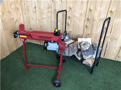 7 Ton Log Splitter + Stand - Special Offer With Log Rack and Log Rack Cover!