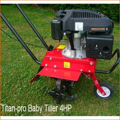 Order a Titan Pro ST36 4HP small petrol rotavator - this light weight model provides real power in a compact form. A fantastic garden tiller that will last season to season.