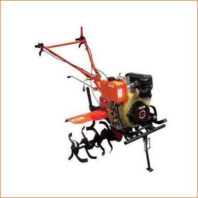 Order a The jewel in the crown of our new range of professional Petrol Tillers/Rotavators/Garden Rotavators. This heavy duty machine features a long life 6HP Diesel engine with a full electric start system. A manual start is also provided. The gear driven tines provide 2 forward speeds and a reverse gear, through a heavy duty gearbox. Fully adjustable handle giving height and side adjustment to enable offset tilling. Tines adjustable from 800mm to 1100mm heavy duty.