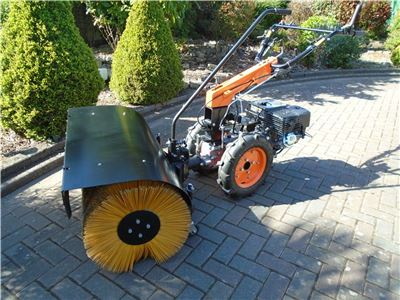 Tractor Broom / PTO Sweeper Attachment for Warrior Two Wheel Tractor