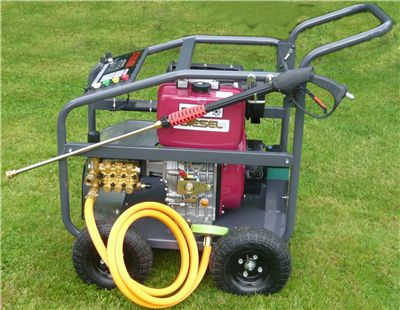 Order a Diesel Pressure washer, with ceramic plunger  long life pump.Price includes FREE DELIVERY