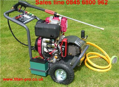 Order a Portable Diesel Pressure washer, with ceramic plunger  long life pump.Price includes FREE DELIVERY